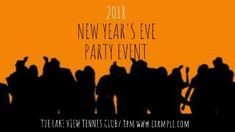 Orange and black event orange celebrate video template New Years eve party event
