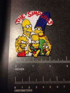 Vintage The Simpsons Family Patch Embroidered Homer Bart Maggie Lisa Marge TV