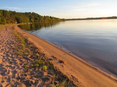 The beautiful sandy beach at Ivanhoe Lake Provincial Park Ontario Provincial Parks, All About Canada, Moonrise Kingdom, Rest Of The World, Travel List, Running Away, Beautiful Pictures, Scenery, Places To Visit