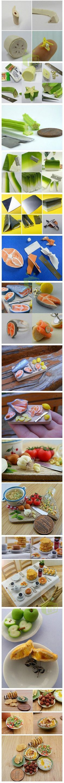 Creative miniature food art - shrink it and its cute...