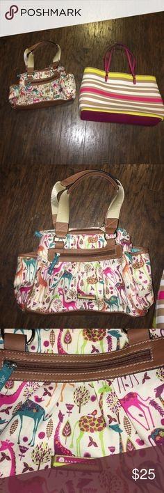 New without tags Lily Bloom totes bags Lot of 2 New without tags Lily Bloom print tote & large unbranded tote bag SOLD AS LOT ONLY Lilly Bloom Bags Totes