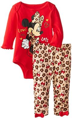 Disney Baby Baby-Girls Newborn Minnie Mouse Two-Piece Bodysuit And Pant Set Disney Baby Clothes, Trendy Baby Clothes, Baby Disney, Reborn Baby Girl, Baby Girl Newborn, Baby Baby, Little Girl Outfits, Toddler Outfits, Kids Outfits