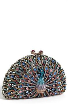 Natasha Couture 'Peacock' Clutch available at #Nordstrom