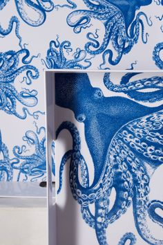 Blue Octopus Serving Trays