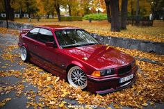 Fantastic calypso rot BMW e36 coupé on BBS LM wheels