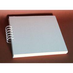 Spiral Album - 20 x 20 cm / Cardboard - Craft shop Diy And Crafts Sewing, Diy Crafts, Scrapbook Albums, Scrapbooking, Blue Pigment, Silk Peonies, White Springs, Cardboard Crafts, Big Flowers