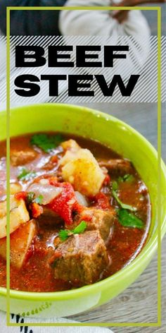 This beef stew with potatoes is the perfect meal to celebrate the fall season! Made easily on the stovetop, this easy beef stew recipe is a keeper. Easy Homemade Recipes, Easy Dinner Recipes, Breakfast Recipes, Easy Meals, Fall Recipes, Delicious Recipes, Beef And Potato Stew, Easy Beef Stew, Recipes For Soups And Stews