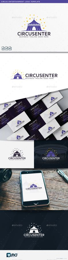 Circus Entertainment Logo Template #caravan #carnival #center #child #children #circus #clean #clown #creative #creativity #entertainment #fun #happy #imaginative #industry #international #magic #marquee #night #professional #purple #show #sky #spectacle #stars #studio #tent #unique #vector #yellow