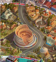 Rome, Italy (Wheel of Fortune), FOX3D ENTERTAINMENT on ArtStation at https://www.artstation.com/artwork/q5oGe