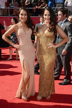 Brie and Nikki Bella Love their dresses!!!