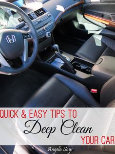 Clean Your Car in 15 Minutes