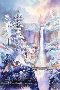 Winter Frost -  by Michael David Sorenson (watercolor)