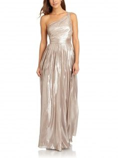 Aidan Mattox Metallic Pleated One Shoulder Dress (Altered) worn by April Carver on Chasing Life. Shop it: http://www.pradux.com/aidan-mattox-metallic-pleated-one-shoulder-dress-altered-31120?q=s66