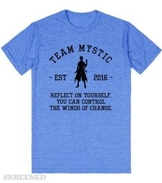 Team Mystic Pokemon Go Athletic Shirt - Reflect on yourself; you can control the winds of change. #pokemon