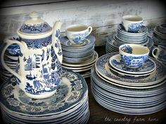 The Country Farm Home: So Blue--Transferware for the Keeping Room