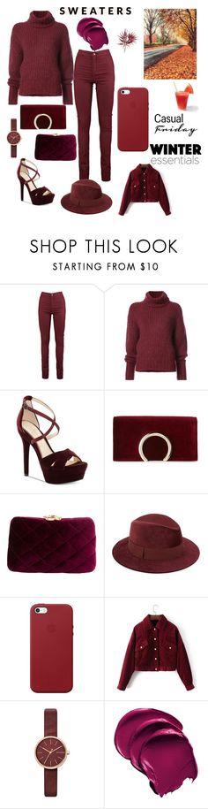"""Final Dark 🌑  Denim❤"" by sese-s ❤ liked on Polyvore featuring BY. Bonnie Young, Jessica Simpson, Jessica McClintock, Serpui, Saks Fifth Avenue, Apple and Skagen"