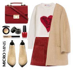 """MICRO MINI"" by laurabustard ❤ liked on Polyvore featuring Zara, Valentino, Acne Studios, Bare Escentuals, MAC Cosmetics and OPI"