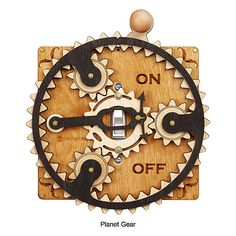 TOGGLE SWITCH PLATE | Laser Cut Steampunk Light Switch Covers | UncommonGoods - Would be seriously cool in the den.