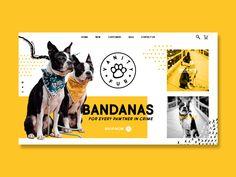 Vanity Fur apparel bandana landing page concept web design dog design ui Ad Design, Layout Design, Branding Design, Concept Web, Dog Logo, Instagram Design, Dog Illustration, Arte Pop, Dog Costumes