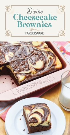 Get the best of both worlds with Divine Cheesecake Brownies—an incredibly delicious treat that will satisfy both the cheesecake and brownie lovers in your household. It gives you the perfect reason to break out your rose gold baking pans. Brownie Desserts, Cheesecake Brownies, Brownie Recipes, Cheesecake Recipes, Easy Desserts, Cookie Recipes, Delicious Desserts, Yummy Food, Eat Dessert First