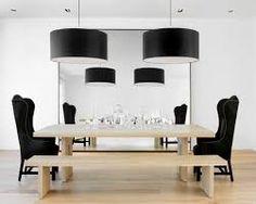 sala de jantar com pendente preto - Pesquisa Google