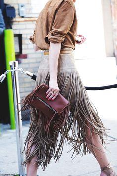 Street fashion for Fall.....Next level fringe.