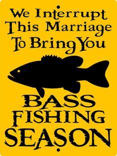 BASS FISHING SIGN 9x12 Aluminum 2993b by SIGNSBYCINDI on Etsy