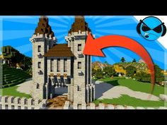 How To Build A Castle Minecraft Tutorial Minecraft Castle Walls, Minecraft Medieval Castle, Minecraft Castle Blueprints, Minecraft City Buildings, Easy Minecraft Houses, Amazing Minecraft, Minecraft Architecture, Minecraft Designs, Minecraft Projects