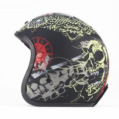 Description Lightweight composite shell Anti-bacterial line Fully washable Removable ear flaps included are designed to hold ear buds 100 % protection from wind and falls Injures GB & DOT safety rated Weight: 1 Kg ABS composite shell Unisex Fully washable Open Face Motorcycle Helmets, Open Face Helmets, Vintage Motorcycles, Vintage Cars, Pirates, Shells, Abs, Unisex, Bikers