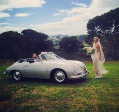 Porsche 356 a wedding car