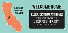 Missionary Homecoming Sign With State/Mission | www.signs.com #lds