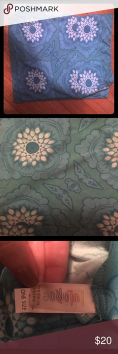 Lularoe leggings OS lularoe leggings, never worn, bluish green LuLaRoe Pants Leggings