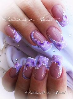 Pin de maria garces en uñas nail art designs, nails y purple Beautiful Nail Designs, Cute Nail Designs, Beautiful Nail Art, Purple Nail Art, Purple Nail Designs, Fancy Nails, Cute Nails, Spring Nails, Summer Nails
