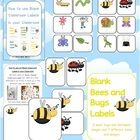 Bees, Bugs and Mini Beasts Themed Blank Classroom Labels - PDF file  48 pages, plus a 15 page how to use guide, with images all designed by Clever ...