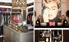 I just said to myself that is Khloe Kardashian's closet before that I read that it was....sad that I know that!!!  WTF  love the closet