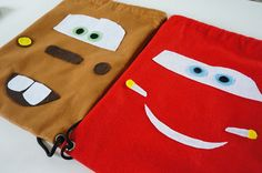 Car Themed Parties, Cars Birthday Parties, 4th Birthday, Lightning Mcqueen Party, Lightening Mcqueen, Car Themes, Candy Bags, Diy And Crafts, Birthdays