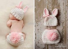 Baby in bunny outfit