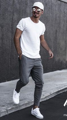 Mens Style Discover 5 Joggers Outfits For Men is part of Streetwear men outfits - Athleisure Outfits Casual Mode Outfits Men Casual Outfits For Men Casual Styles College Outfits Mens Casual Street Style Men Street Styles Men Street Outfit Outfits Casual, Summer Outfits Men, Stylish Mens Outfits, Mode Outfits, Summer Clothes For Men, Casual Outfit For Men, Simple Outfits, Stylish Clothes For Men, Outfit Formal