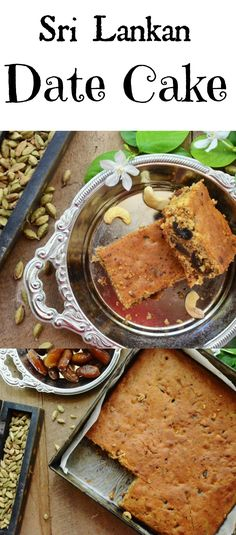 A decadent Sri Lankan food that is also an easy cake recipe, make this luscious date cake combining moist dates and fragrant Sri Lankan spices & experience heaven in a mouthful Easy Cake Recipes, Tea Recipes, Indian Food Recipes, Sweet Recipes, Dessert Recipes, Cooking Recipes, Moist Date Cake Recipe, Sweet Desserts, Dessert Ideas
