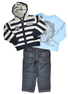 Kenneth Cole Boys 2-7 Hooded Sweater3 Piece Pant « Clothing Impulse