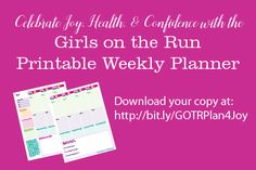 Download your free printable weekly planner page to help your Girls on the Run girl find joy, build confidence, and make healthy choices throughout the school year.