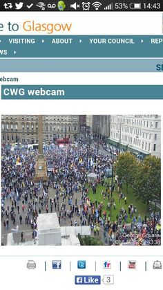 #HopeOverFear from GCC webcam