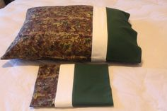 Handmade Camouflage Pillowcase standard/full SET by Fabricatedwithlove on Etsy