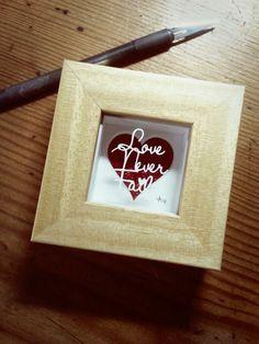 'Love Never Fails' - Miniature Original Papercut