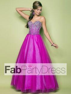 2013 Style Ball Gown Sweetheart Beading Sleeveless Floor-length Tulle Prom Dresses / Evening Dresses (SZ0300103) - FabPartyDress.com