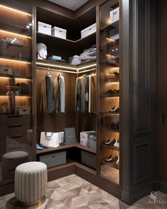 Feeling inspired to revamp your closet? We have a few splendid and imposing ideas! Wardrobe Room, Wardrobe Design Bedroom, Closet Bedroom, Shoe Closet, Dressing Room Closet, Dressing Room Design, Walk In Closet Design, Closet Designs, Cupboard Design