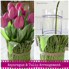 How to make an Asparagus & Tulip Arrangement