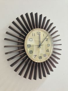 Sunburst Clock.  Superb vintage wall clock by Westclox of Scotland.