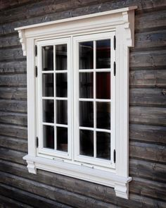 50 Ideas Exterior Window Trim Ideas Woods For 2019 Exterior Window Molding, Exterior Trim, Exterior House Colors, Exterior Design, Exterior Windows, Wooden Window Design, House Window Design, House Front Design, House Cladding