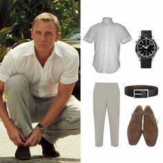 James Bond Outfits, James Bond Suit, Bond Suits, James Bond Style, Daniel Craig Suit, Daniel Craig Style, Estilo James Bond, Grunt Style Shirts, Gym Workout Chart